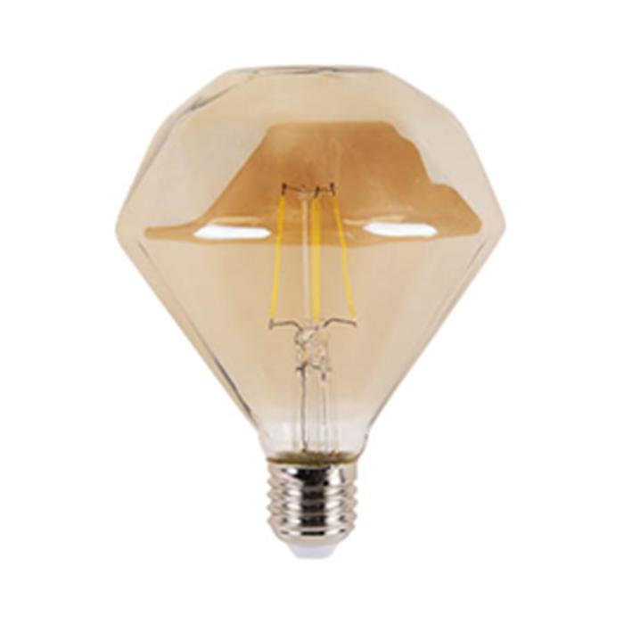 LED filament bulb diamond