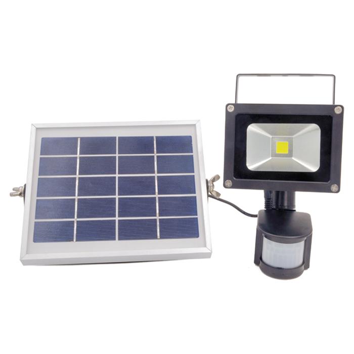 LED solar sensor flood light