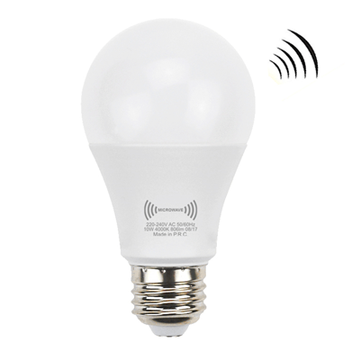 A60 motion microwave sensor led bulb
