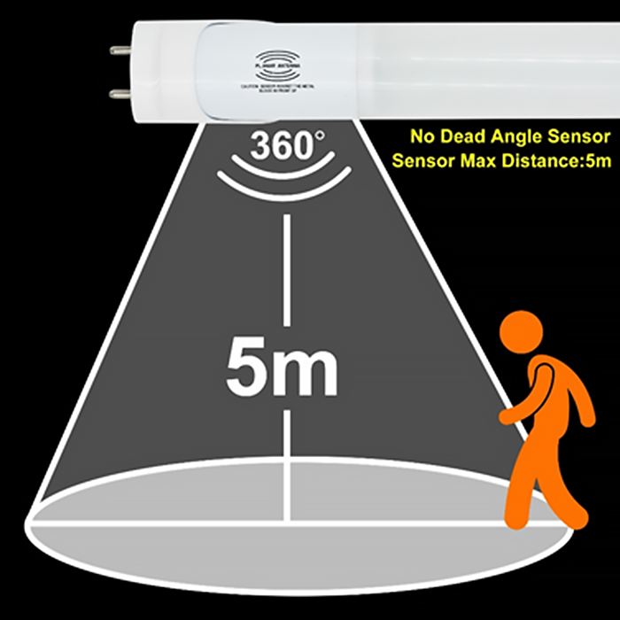 T8 LED Radar Motion Sensor Tube Light