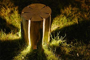 Imitation stump lawn lamp