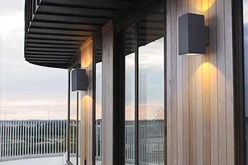 Outdoor balcony wall lamp